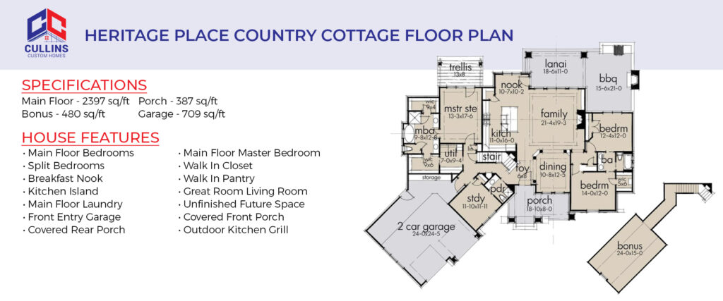 Country Cottage Floor Plan